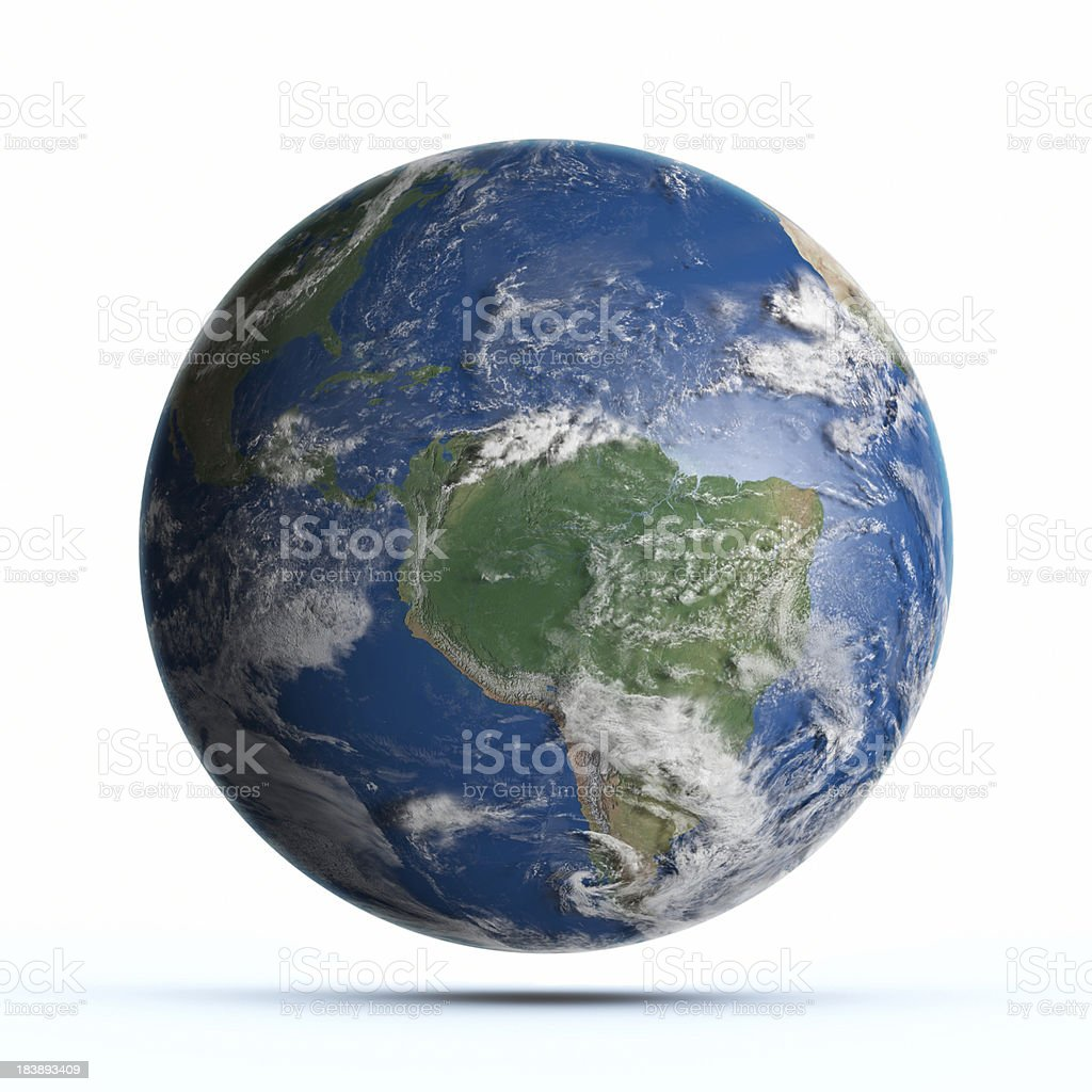 Planet Earth South America royalty-free stock photo
