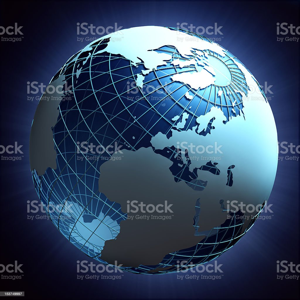 Planet earth wire-frame design stock photo