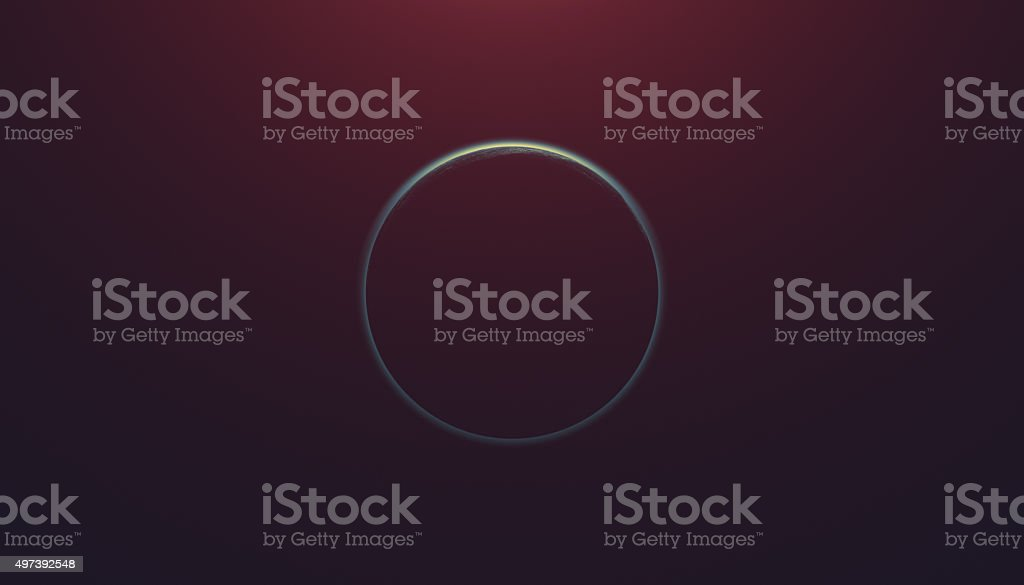Planet eclipse on a starless sky stock photo