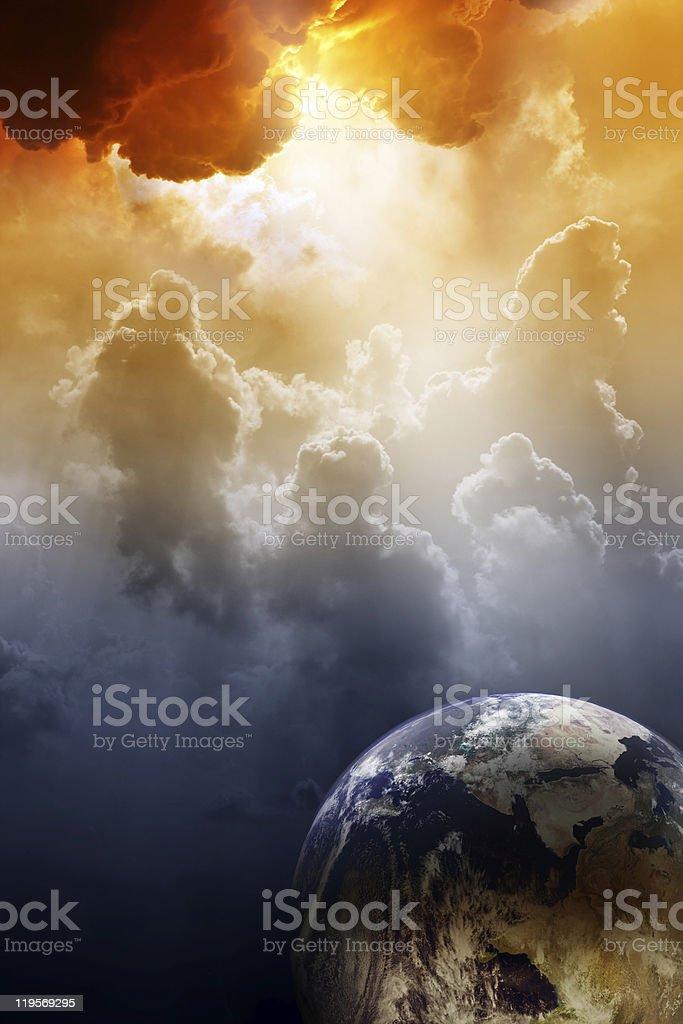 Planet in danger stock photo