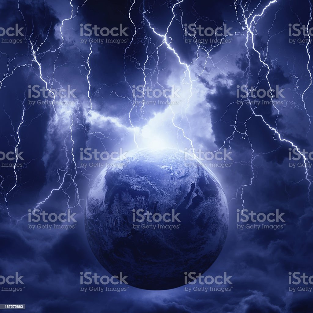 Planet in danger stock photo