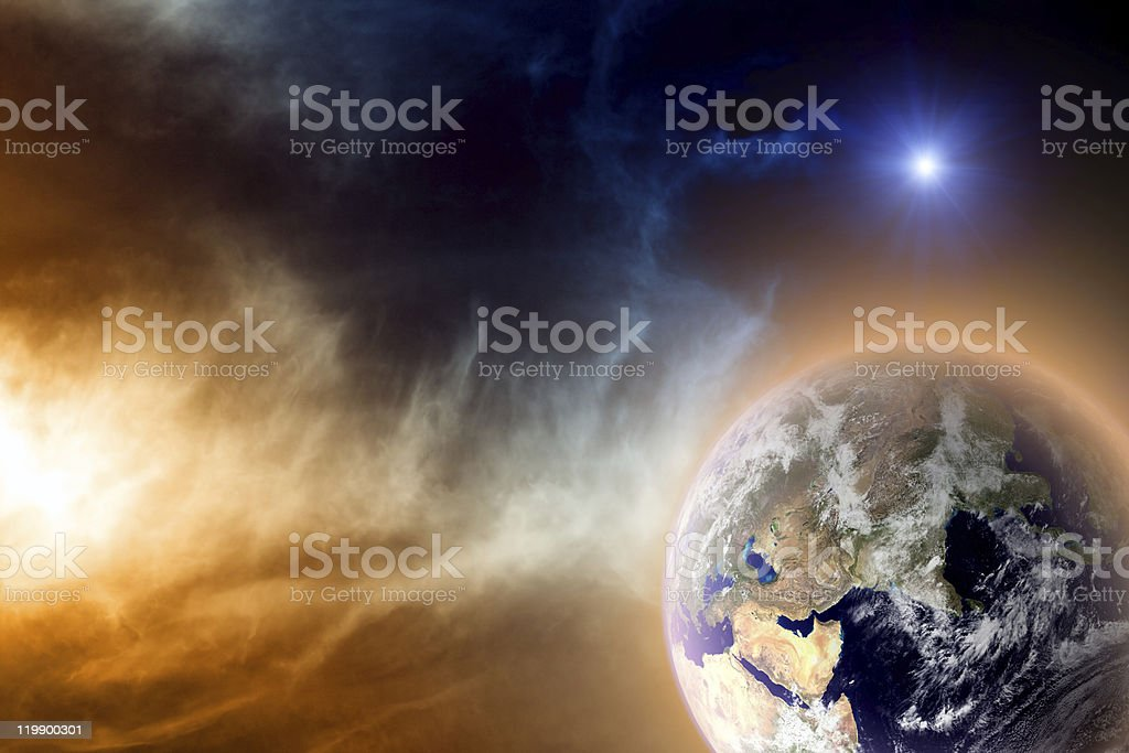 Planet in space royalty-free stock photo