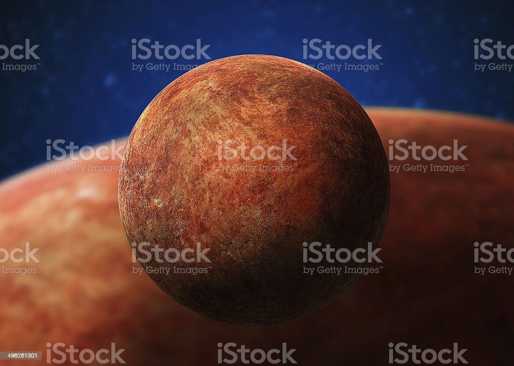 Planet Mercury. Elements of this image furnished by NASA stock photo