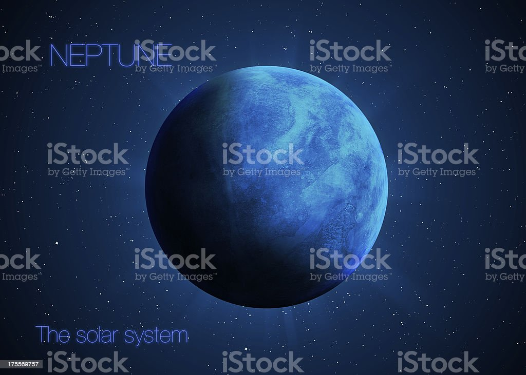 Planet Neptune. Elements of this image furnished by NASA stock photo