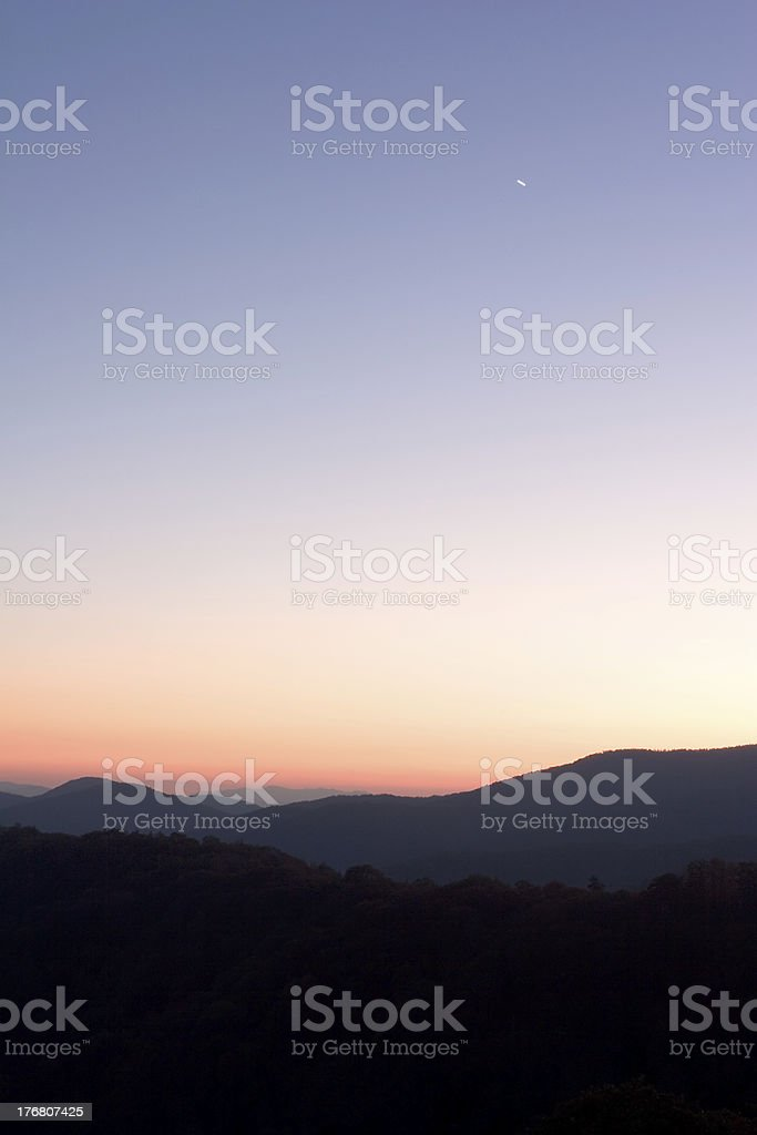 Planet over Peaks royalty-free stock photo
