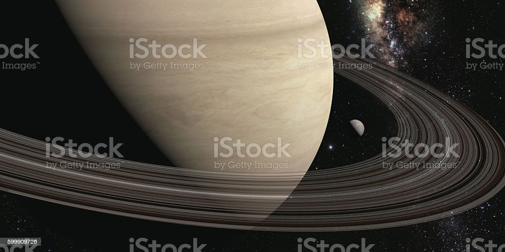 planet saturn with rings stock photo