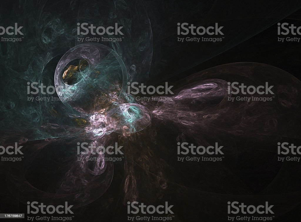 planet transformation - fractal royalty-free stock photo
