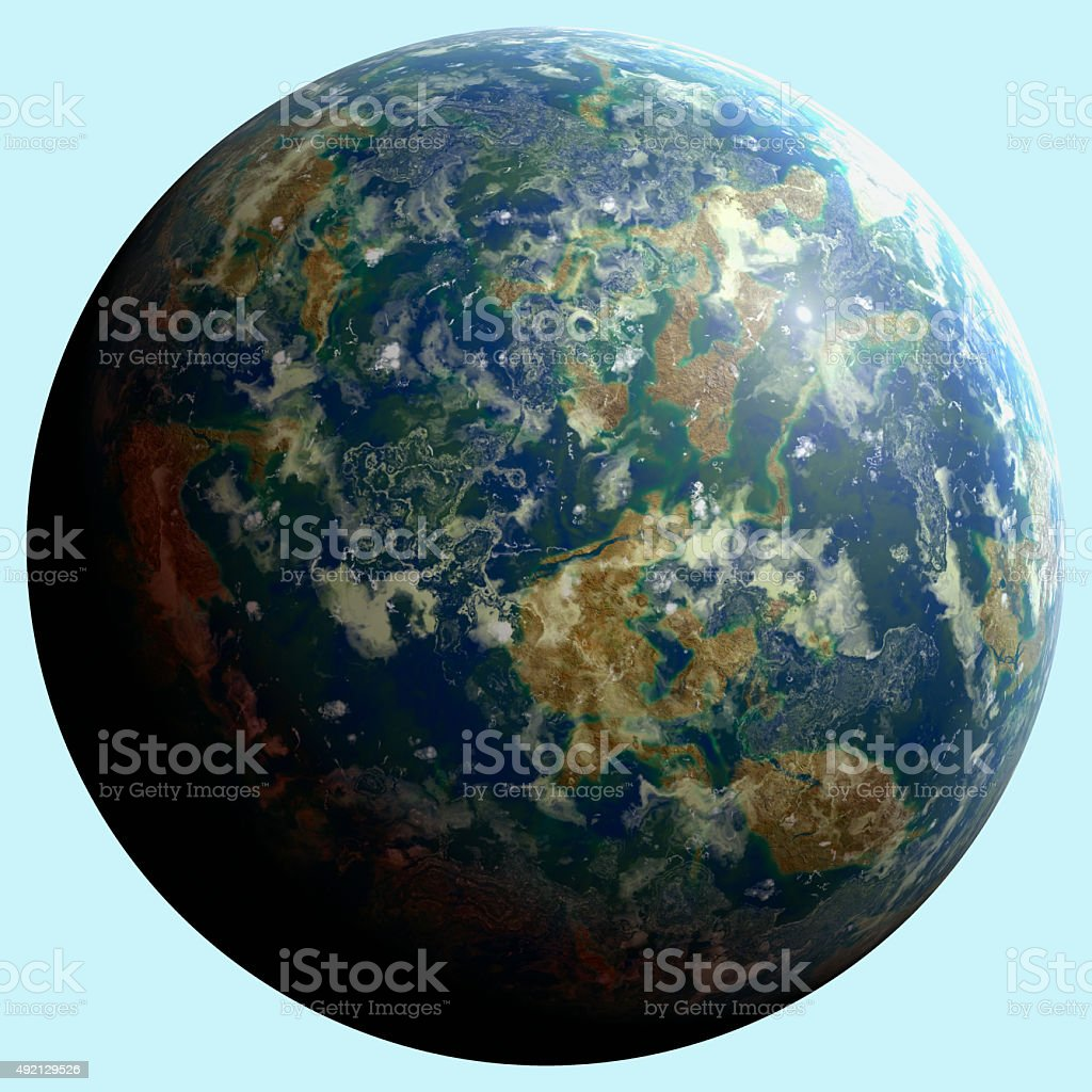 Planet unknown stock photo