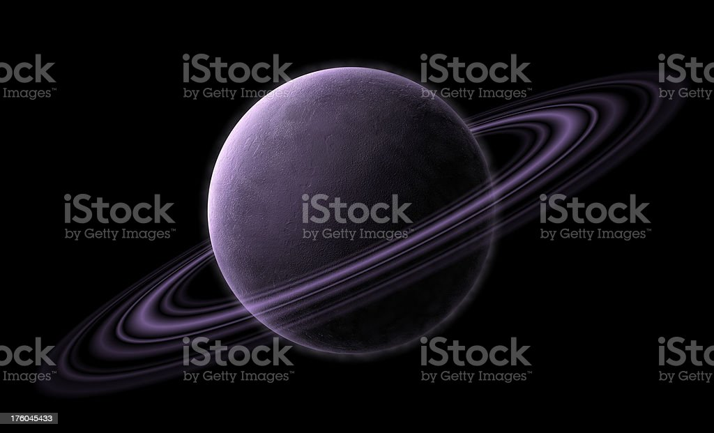 Planet with Saturn Rings stock photo