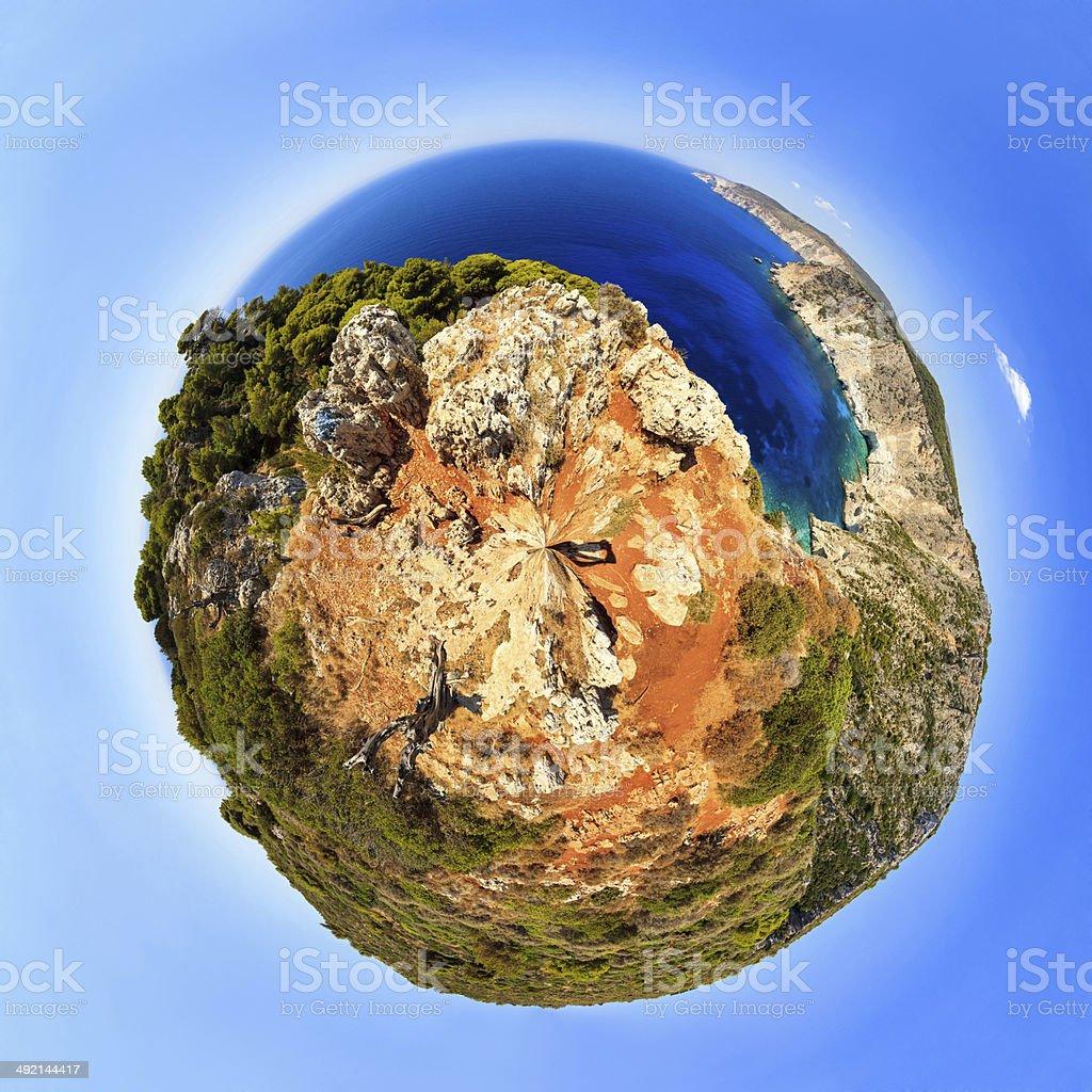 Planet Zakynthos stock photo