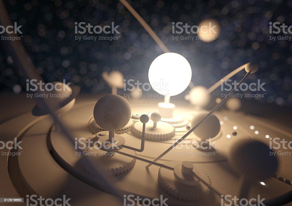 Planetarium Model stock photo