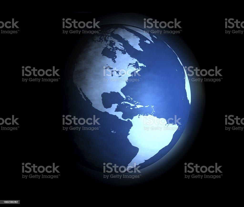 Planetary Blue stock photo
