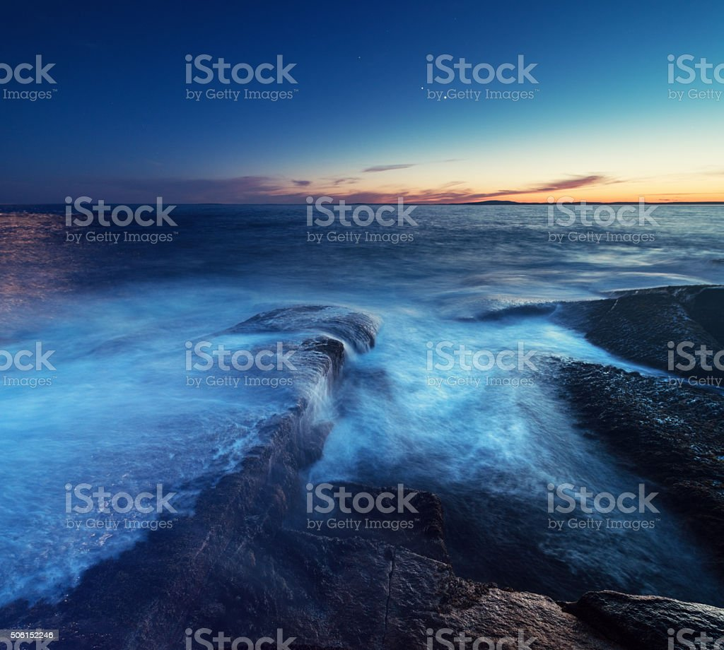 Planetary Coastline stock photo