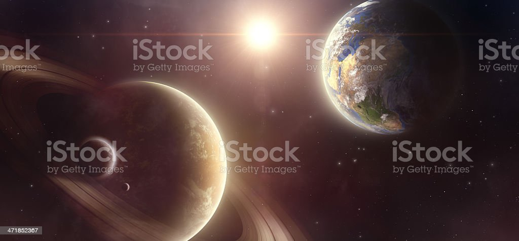 Planets royalty-free stock photo