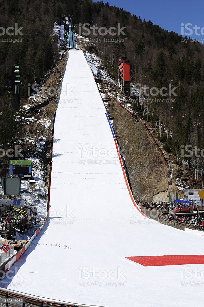 Planica ski jump royalty-free stock photo