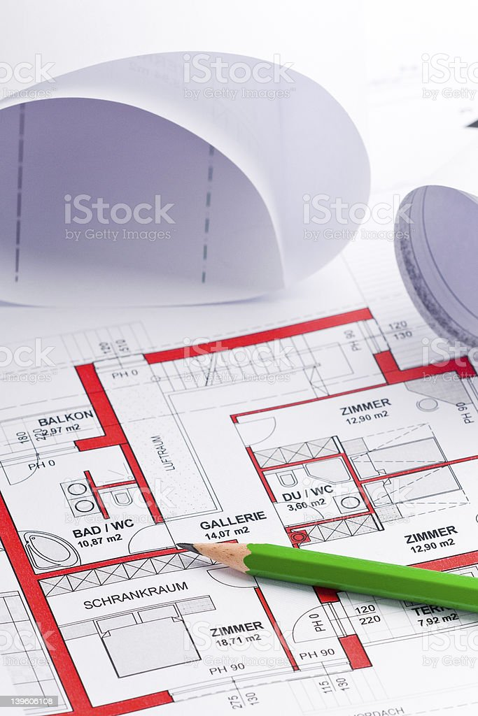 planing a house royalty-free stock photo