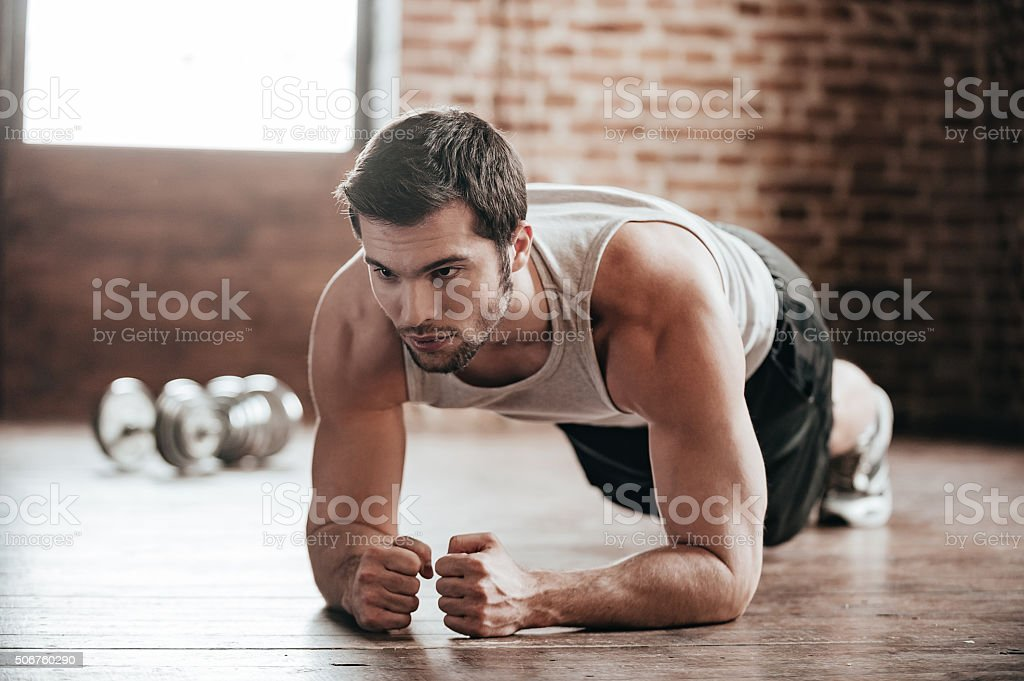 Plank it! stock photo