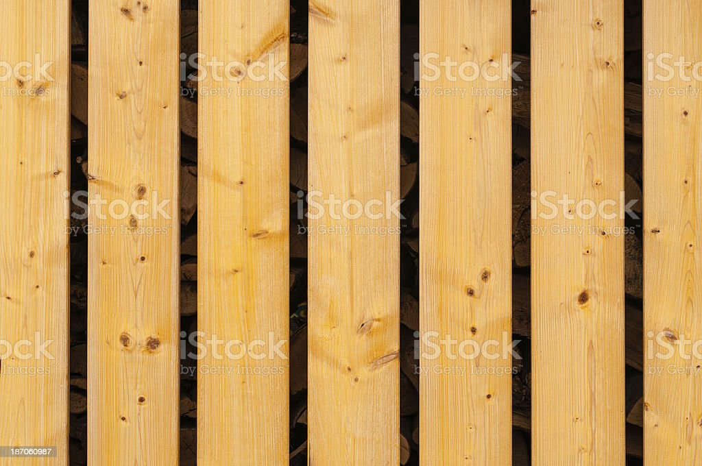 plank wall of bright wooden boards stock photo