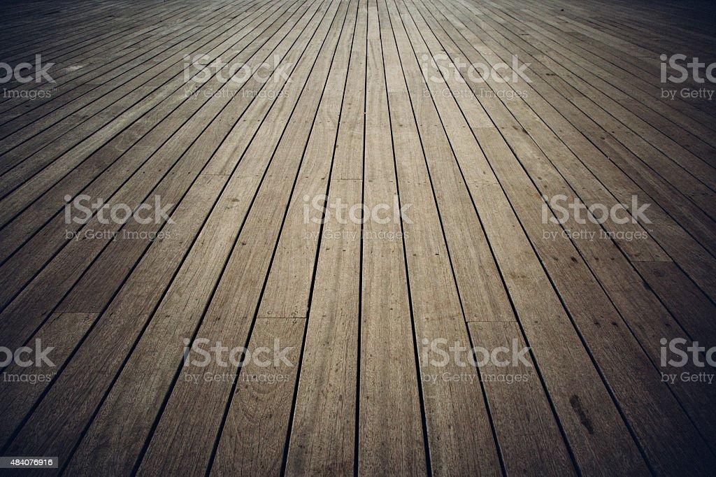 Plank wood floor stock photo