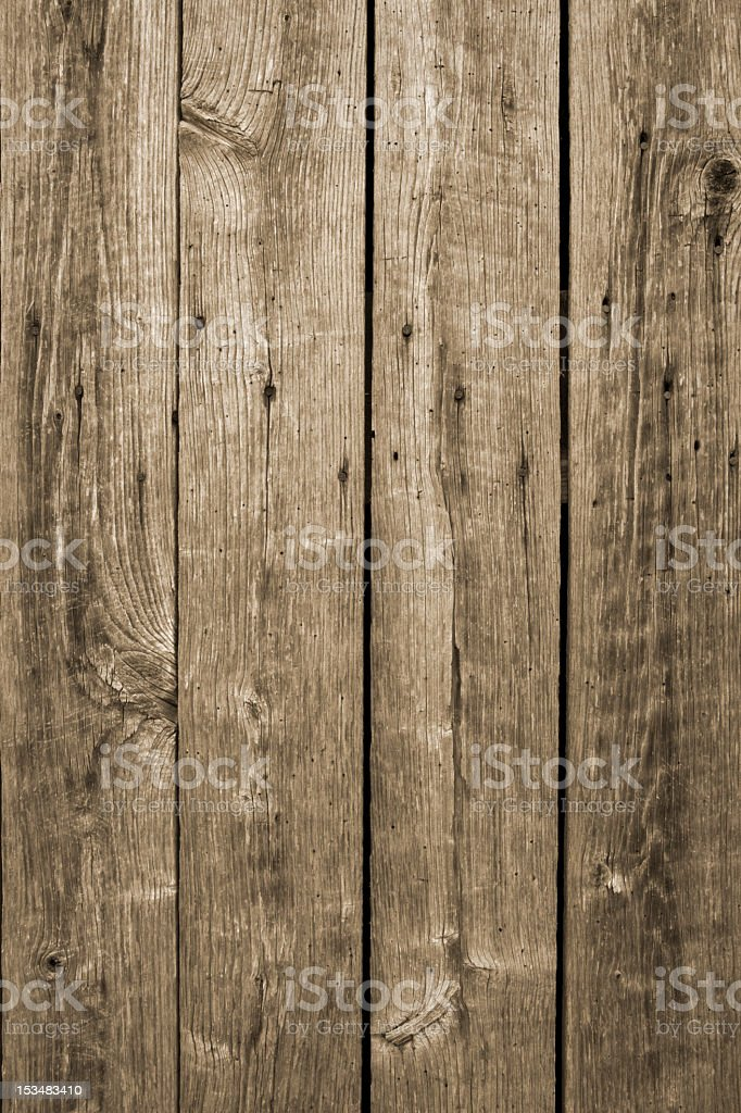 Planks of barn wood against white background stock photo