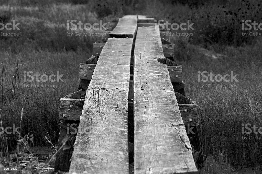 Planks of Old Wood stock photo