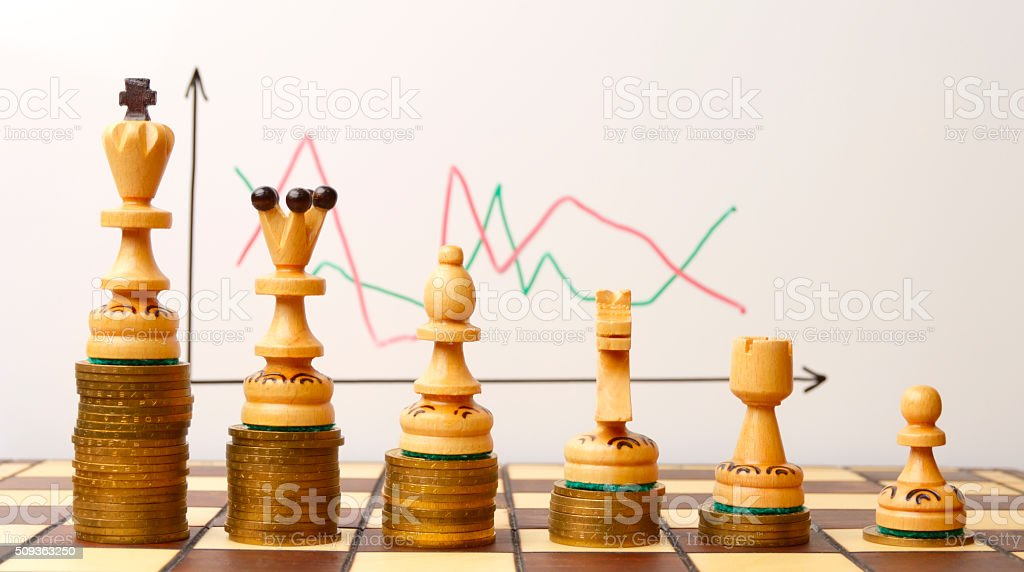 planned strategy - the key to success stock photo