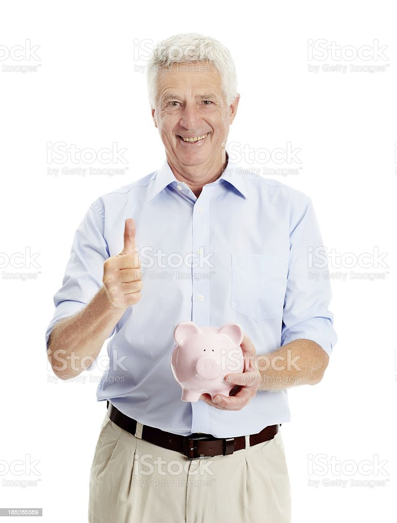 I planned well for my retirement royalty-free stock photo