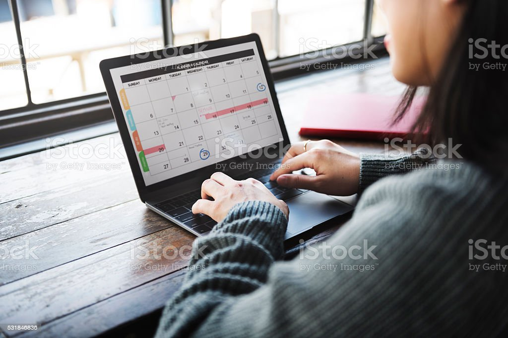 Planner Organizer Date Events Schedule Concept stock photo
