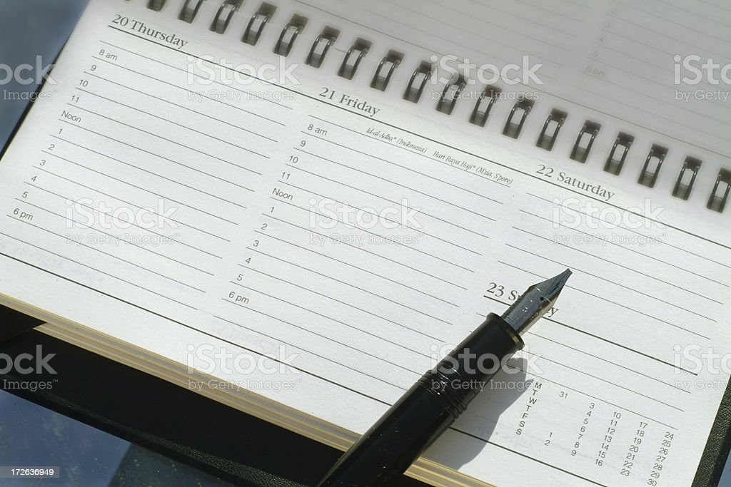 Planner page stock photo