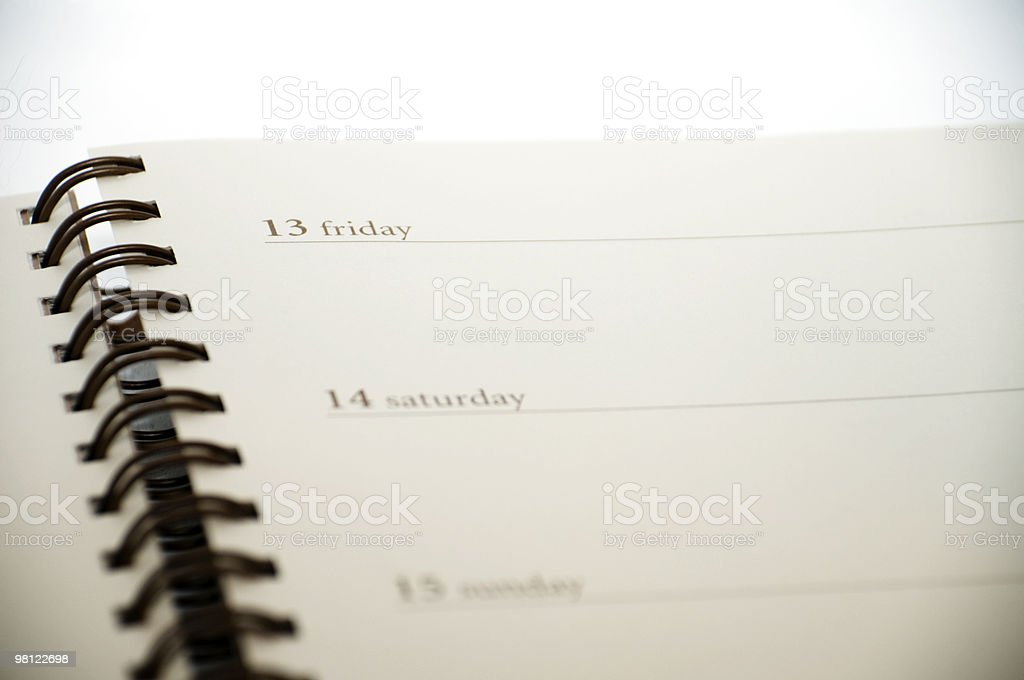 Planner royalty-free stock photo