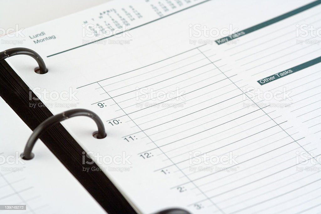 A planner that has not been written in yet royalty-free stock photo