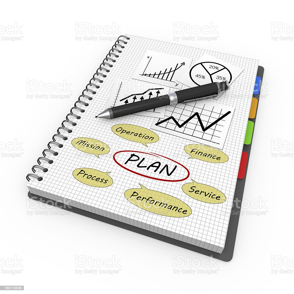 Plannig concept royalty-free stock photo