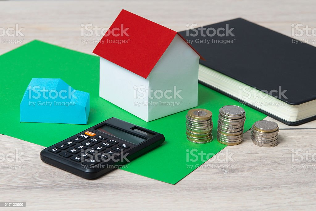 Planning a home budget for the new year. stock photo