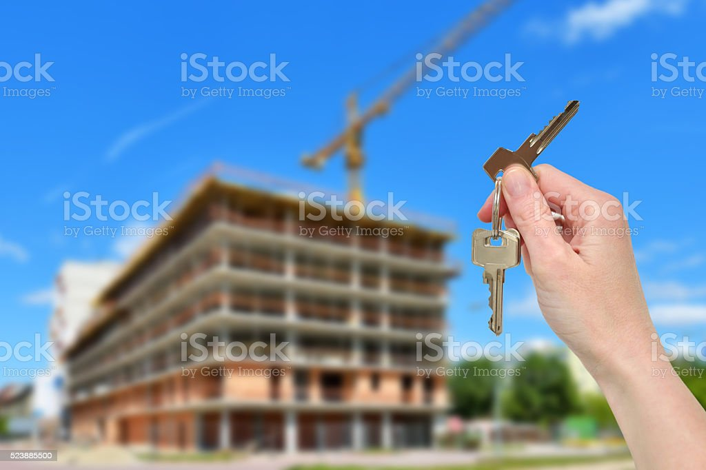 Planning a new home stock photo