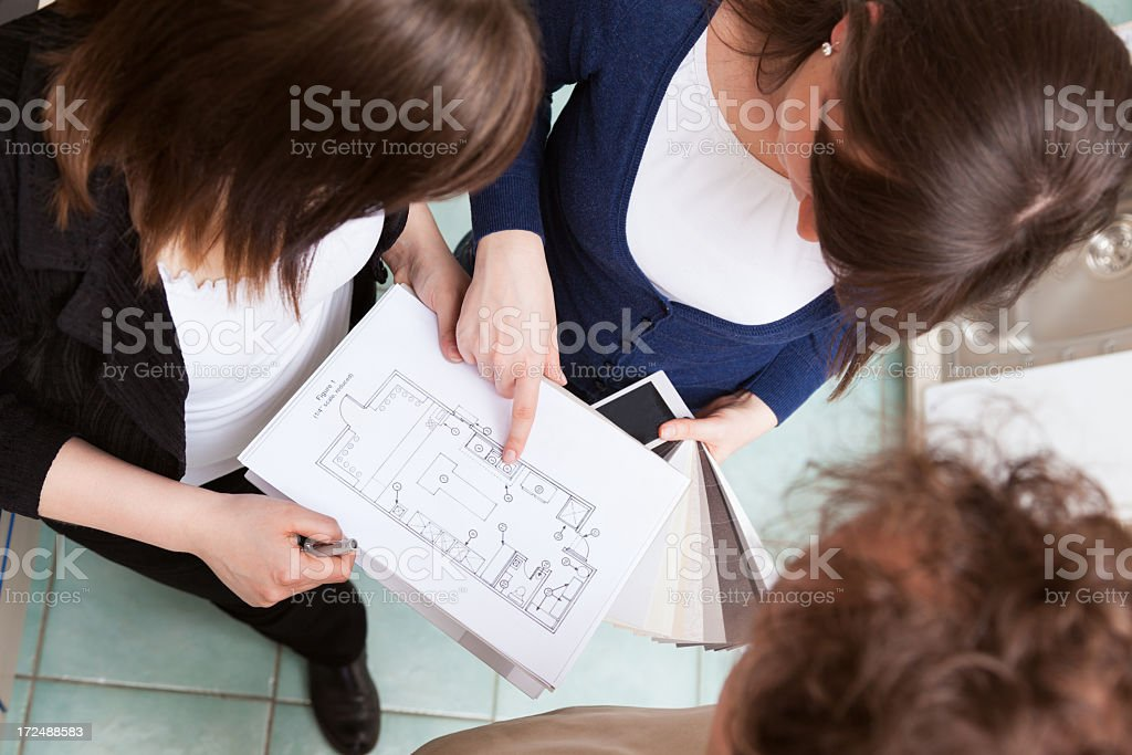 Planning a new home together royalty-free stock photo
