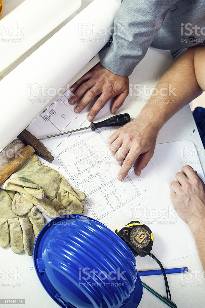 Planning a new house. royalty-free stock photo