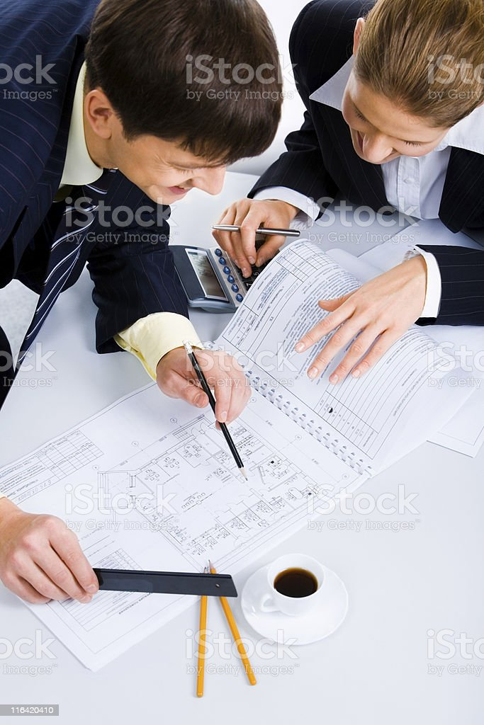 Planning a new project royalty-free stock photo