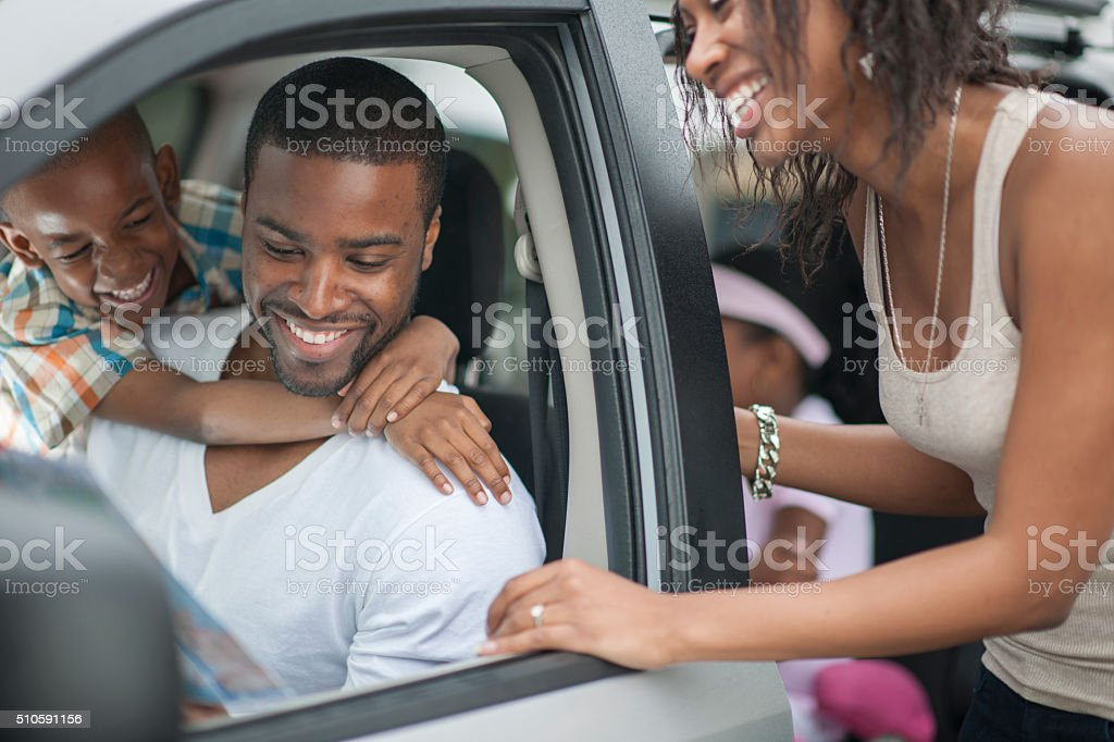 Planning a Road Trip stock photo