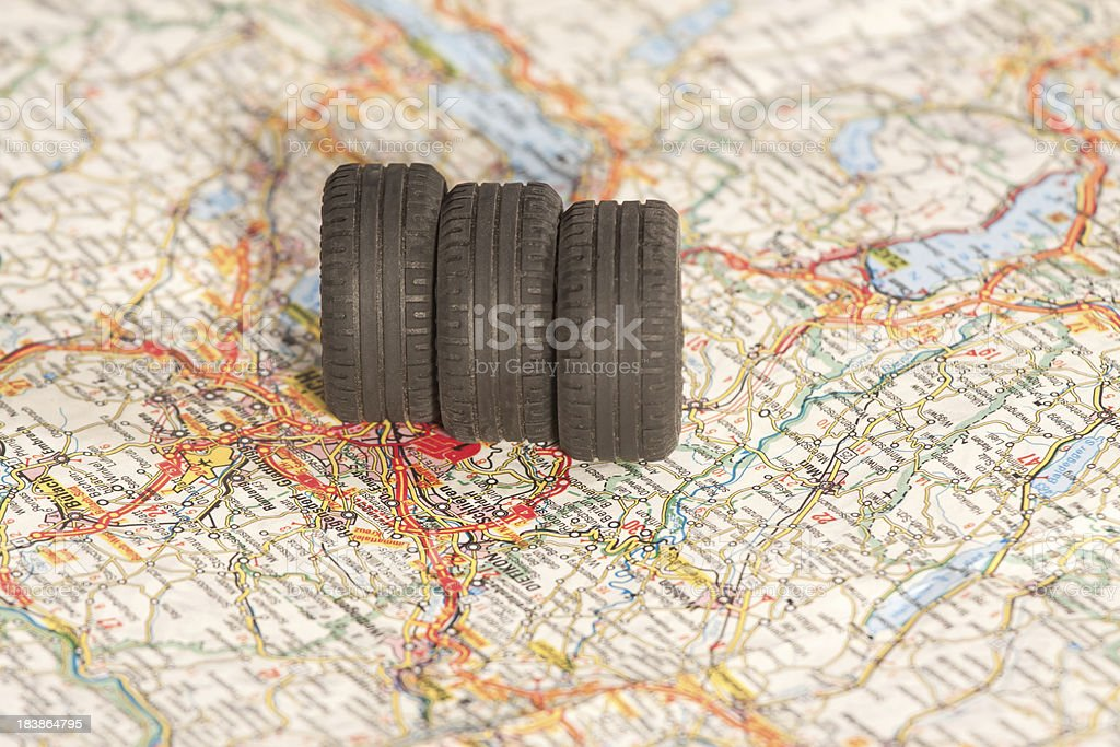 Planning a trip royalty-free stock photo