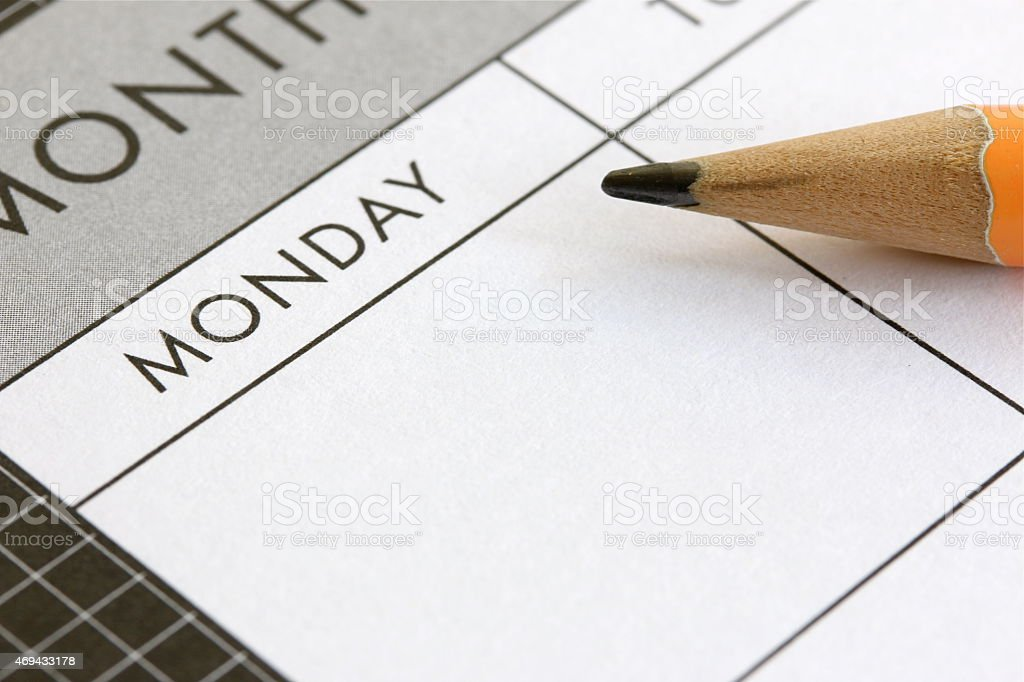 Planning A Week stock photo