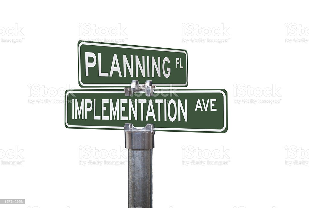 Planning and Implementation stock photo