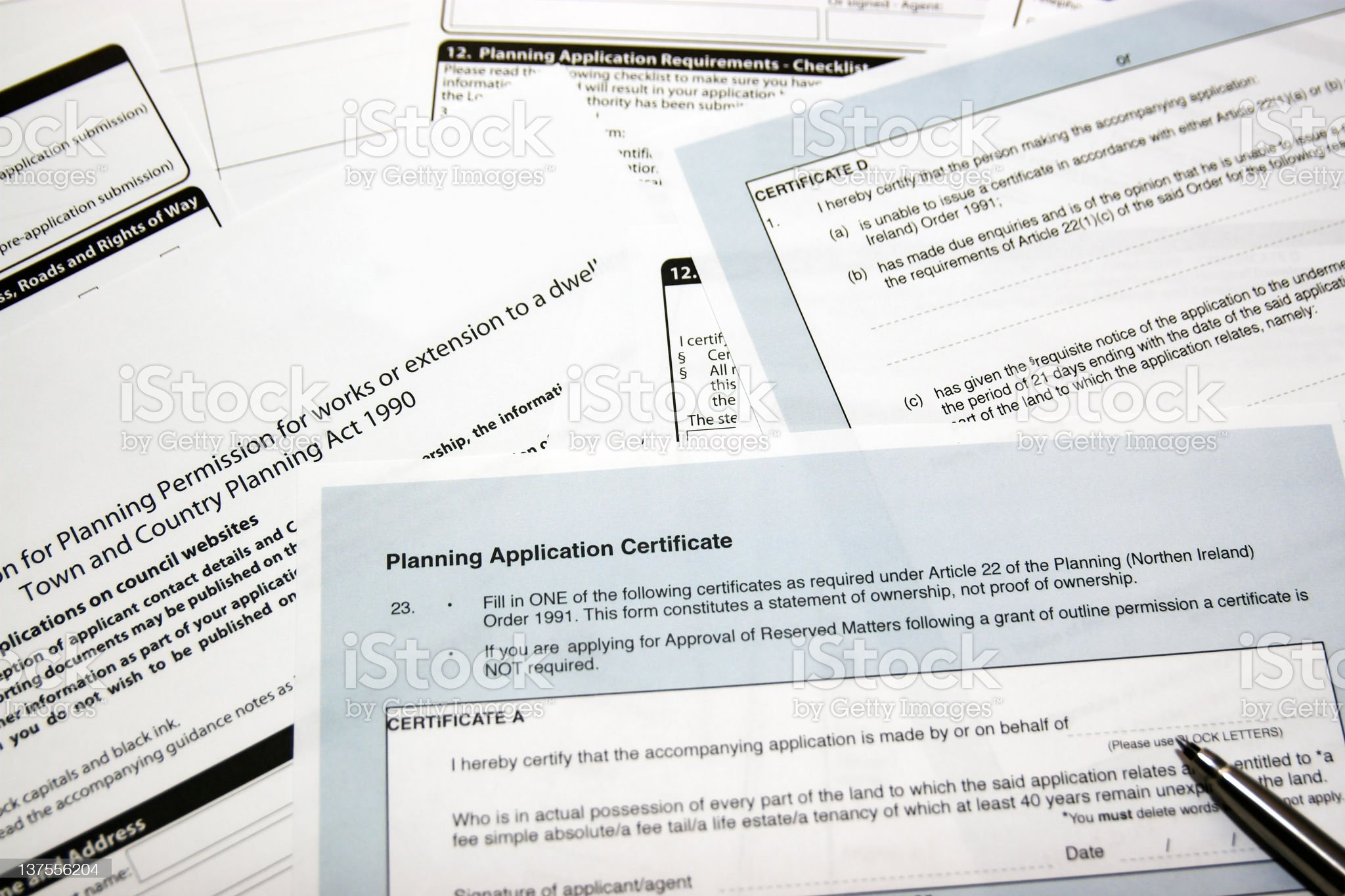 Planning Application royalty-free stock photo