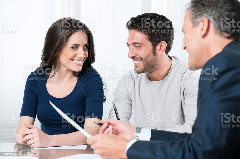 Planning bank investments royalty-free stock photo