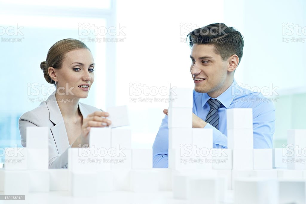 Planning business strategy royalty-free stock photo