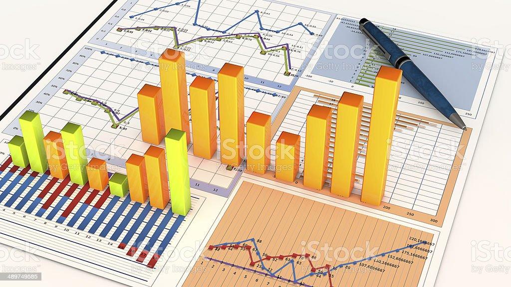 Planning charts stock photo