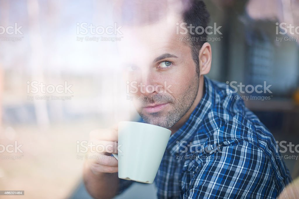 Planning day only with cup of coffee stock photo