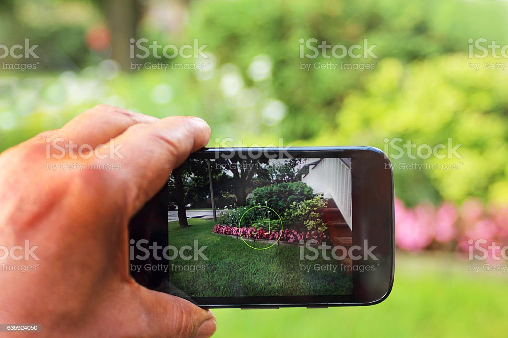 Planning for spring or summer garden stock photo