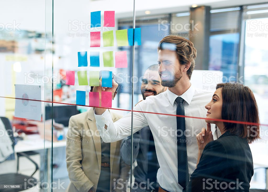 Planning for success stock photo