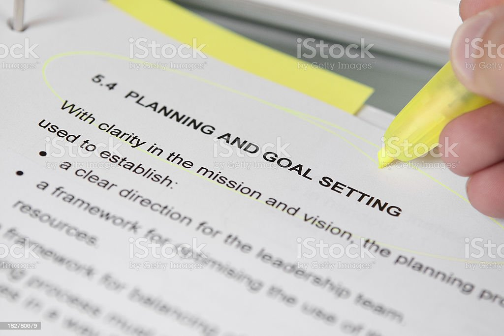 Planning & Goal Setting royalty-free stock photo
