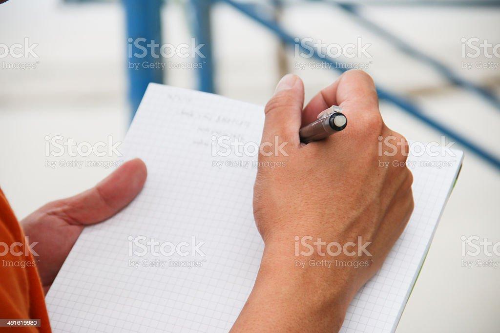 planning hands stock photo